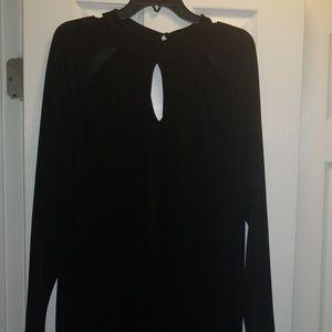 ASOS all black floor length dress